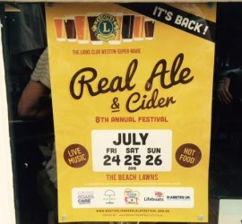 Cider Festival August 24 25 26 July weston super mare 2015