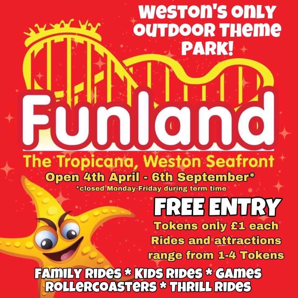 seafront hotel weston super mare funfair funland tropicana
